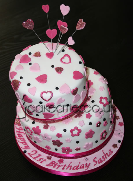 Cake Picture Gallery Birthday Cakes Hearts And Flowers